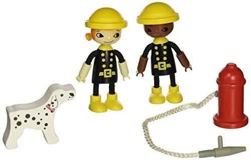 Hape - Playscapes - Happy Firemen Figures by Hape