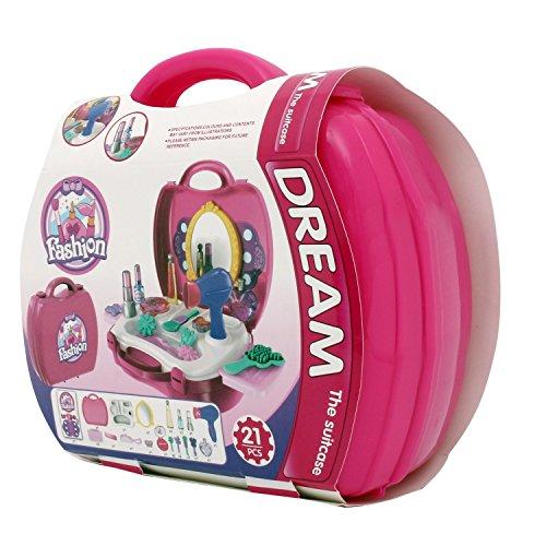 ilovebaby Makeup Set for Children - Pretend Play Make up Kit - for Little Girls- Improve Imagination and Motors Skills-Color Pink