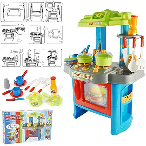 FunkyBuys Kids Children 29pc Pretend Play Kitchen Set Boys Girls Xmas Gift Toy Home Fun by FunkyBuys