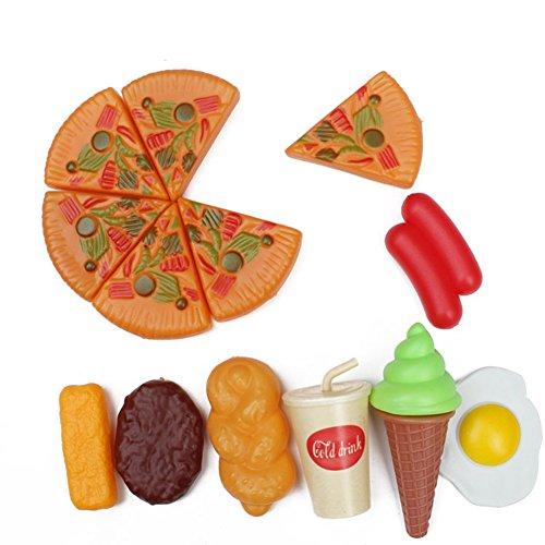 Faironly 13Pcs Imitation Pizza Toys Sets Children Pretend Play Food Model Kits Xmas Gift for Kids