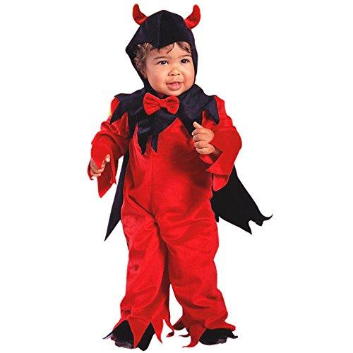 Childs Toddler Fuzzy Devil Halloween Costume 2-4T