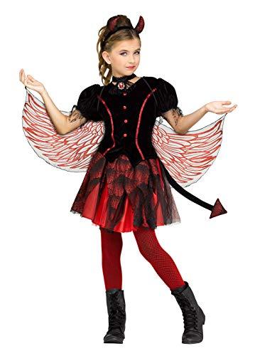 Fun World Fiery Devil Costume Small 4 - 6 Black