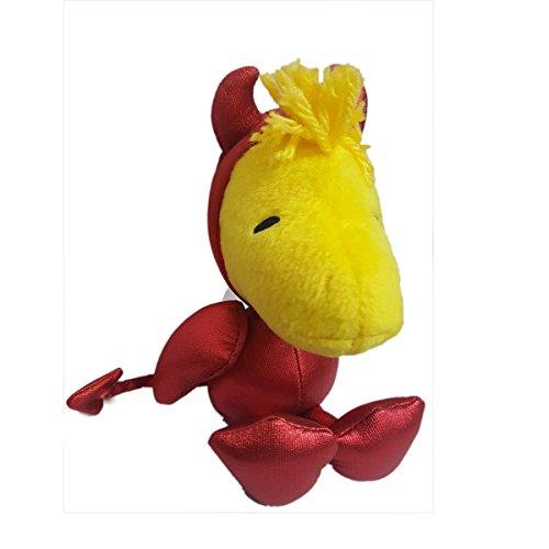 Peanuts 8 Plush Halloween Woodstock in Devil Costume Bean Bag Doll