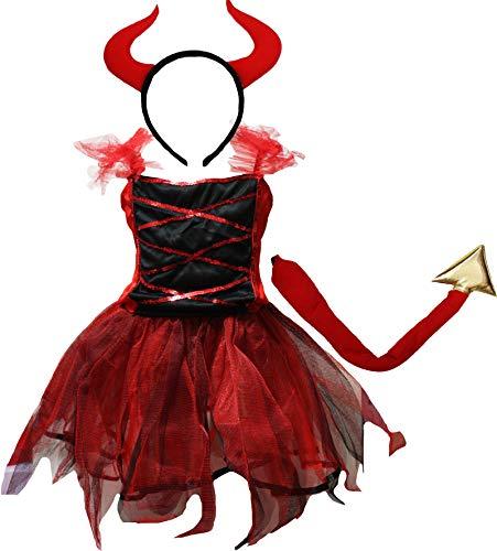 Petitebella Halloween Costume Dress 2-12y 10-12 Years Red Devil