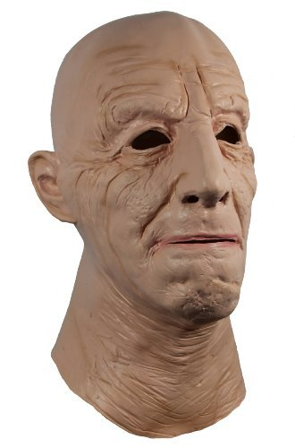 Jack - Realistic Full Head Natural Latex Rubber Mask for Fancy Cross Dress Disguise Halloween Party Old Prank Scary Costume for Old Grandad Grandpa Male Man or Lady Female by Mask Attack