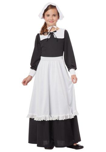 California Costumes Pilgrim Girl Child Costume Large