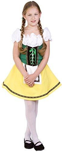 RG Costumes Bavarian Girl Costume GreenYellowWhite Medium