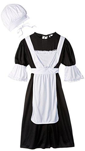 RG Costumes Pilgrim Girl Costume BlackWhite Medium