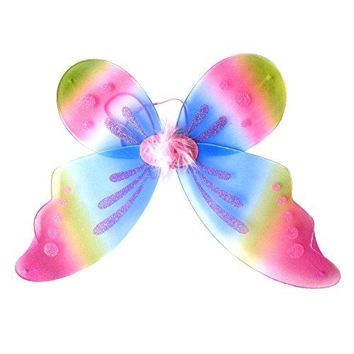 BOBORA Fairy Princess Butterfly Costume Dress-up Wings Halloween Costume