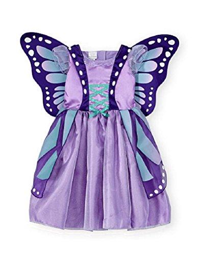 Baby Toddler Koala Kids Purple Butterfly Costume Dress Gown 4T5T