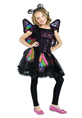 Big Girls Rainbow Butterfly Costume Medium 8-10