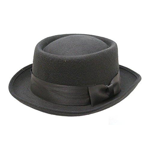 Black Pork Pie Hat Deluxe Felt Walter White Breaking Bad Gangster Costume