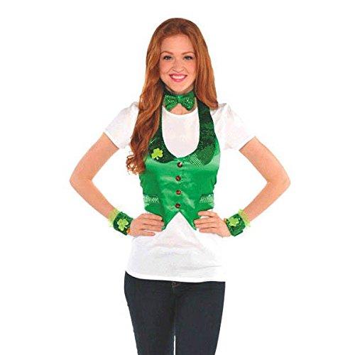 Amscan St Patricks Day Leprechaun Costume Party Accessory Kit 4 Piece 118 X 65 Green