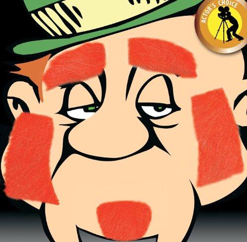 HMS Leprechaun Costume Facial Hair Set Red