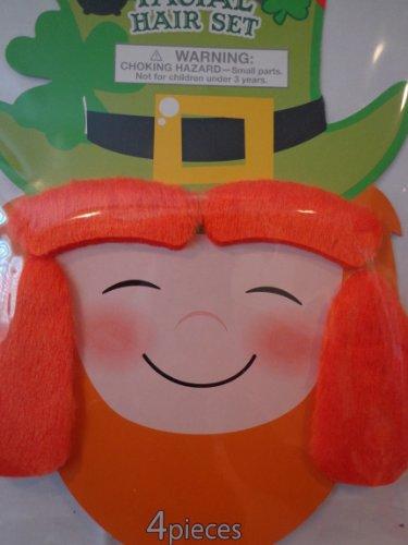 Leprechaun Costume St Patricks Day Leprechaun Facial Hair Set Patricks Day Costume