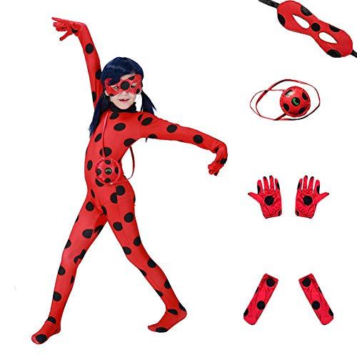 Da Mai Halloween Cosplay Ladybug Kid Costumes Chlid Little Beetle Suit (5 Piece Suite )