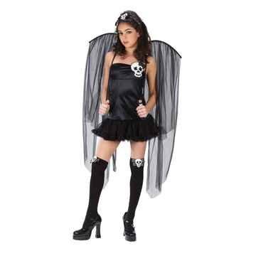 Skull Fairy Halloween Costume Teen Size 0-9