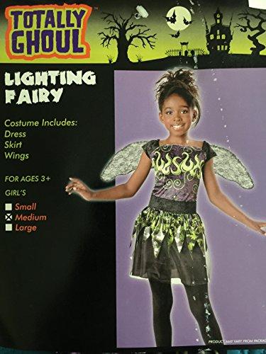 Totally Ghoul Lighting Fairy Halloween Costume NWT Size Medium Girls