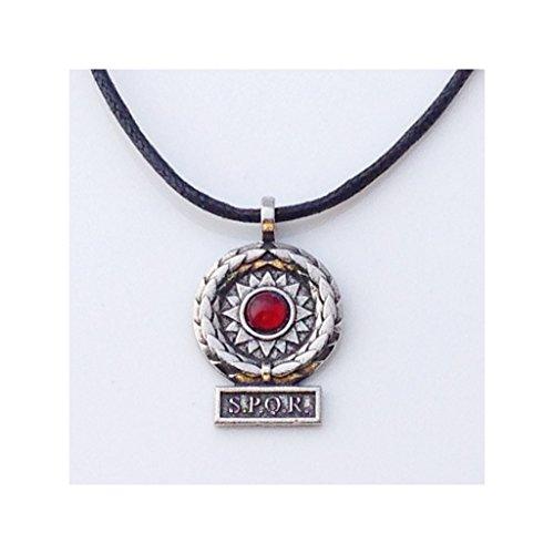 SPQR Roman Victory Pendant Unisex Historical Costume Necklace