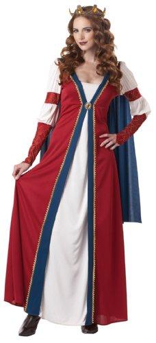 California Costumes Renaissance Queen RedBlue Medium Costume