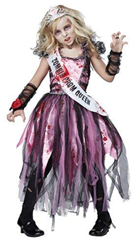 California Costumes Zombie Prom Queen Costume PinkBlack Small