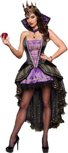 InCharacter Costumes Evil Queen Costume BlackPurple Large