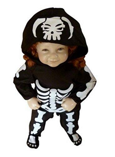 Fantasy World BoysGirls Skeleton Halloween Costume Size 12-18 months F70