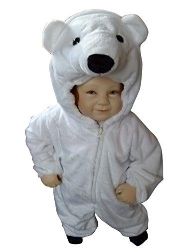 Fantasy World F24 Kids Polyester Polar Bear Halloween Costume Size - 6