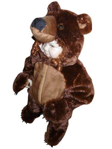 Fantasy World F67 BoysGirls Brown Bear Halloween Costume 9-12 Months