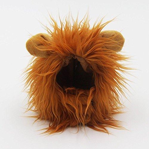 Lanlan Brown Pet Cat WigFunny Hair HeadgearLion Simulation HeadHalloween Festival Party Costume Photo Props