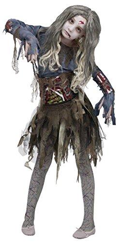 Zombie Girls Halloween Costume Large 12-14