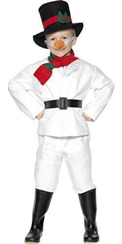 Fancy Me Big Boys Piece Frosty Winter Snowman Christma Festive Fancy Dres Costume 9-12 Years White