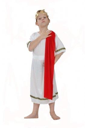 Henbrandt Big Boys Ren Caesar Roman Emperor Toga Fancy Dres Costume 7-9 Years Multicoloured