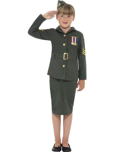 Star55 Big Boys Ww Costume Army World War Ww Soldier Fancy Dres Costume Large 10-12 Years Green