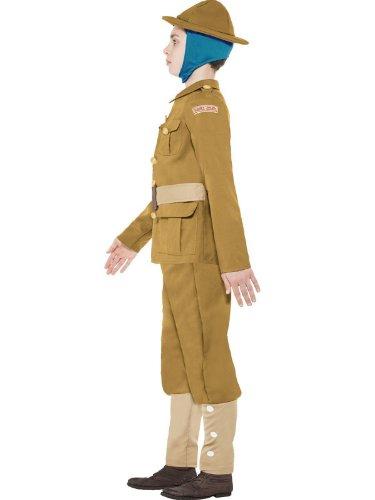 Star55 Big Boys Ww Fancy Dres Georgian Ww Soldier Fancy Dres Costume Medium 7-9 Years Multicolor