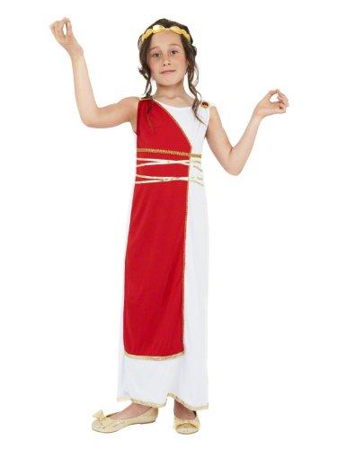 Star55 Big Girls Grecian Greek Roman Robe Goddes Egyptian Toga Fancy Dres Costume Medium 7-9 Years White