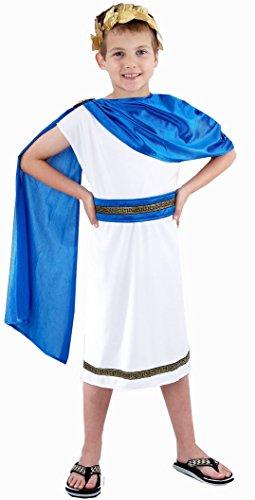 TrendyFashion Big Boys Ren Caesar Roman Emperor Costume Fancy Dres Outfit Hb Medium 7-9 Years Child Caesar Boy Costume