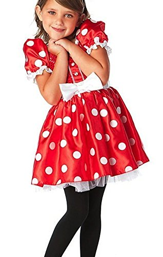 Disney Store Red Minnie Mouse Halloween Costume Dress Size Small 56 - 5T