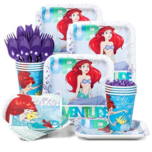 Costume Supercenter BBKIT284 Little Mermaid Standard Birthday Party Tableware Kit