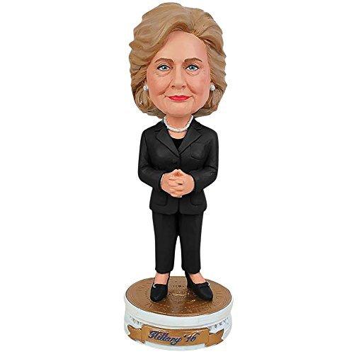 Hillary Clinton 2016 Bobblehead Bobber Standing On Presidential Pedestal