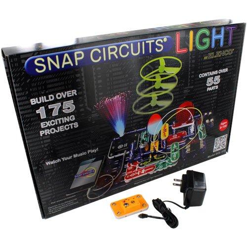 Elenco Snap Circuits Light Kit with AC Snap Adapter Set