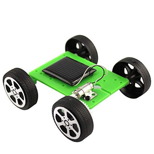 smallwoodi DIY Solar Car Toy Mini DIY Solar Pane-l Powered Car Vehicle Model Kids Science Educational Toy Birthday Gift Green