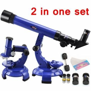 Telescope Microscope Set Science Nature Educational Astronomy Learning Kids Toy by Completestore