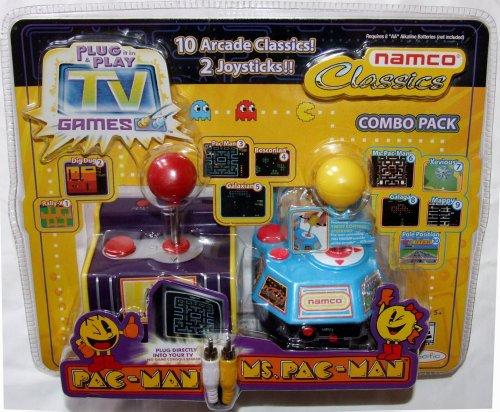 Jakks Plug Play TV Games Namco Classics Combo Pack Pac-Man Ms Pac-Man 10 Arcade Classics