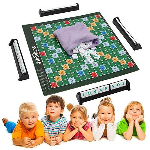 Scrabble Board Game Brand Crossword Game Letters Tiles For Family Kids Friends Junior Travel