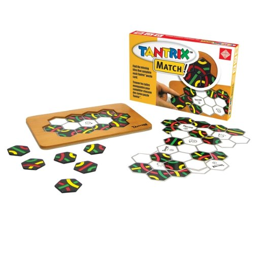 Tantrix Match Puzzle Board Game with Wooden Board