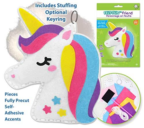 Kid Sewing Kit Unicorn Toys for Girls Unicorn Gifts for Girls Arts and Crafts Unicorn Crafts for Girls Kids Craft Kits Girls Crafts Unicorn Art Kid Crafts for Girls Craft Kits for Girls 1 Kit