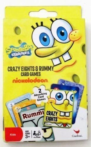 Spongebob Squarepants Crazy Eights Rummy Card Games By Nickelodeon by Nickelodeon