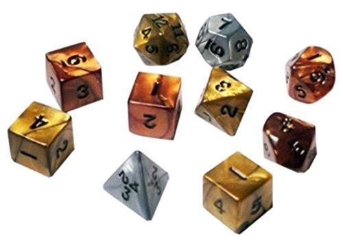 1 X Koplow RPG Dice Sets Assorted Olympic Polyhedral 10-Die Set by Koplow Games