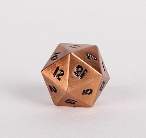 Legendary Copper Metal D20 Dice - Single 20 Sided RPG Dice
